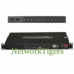 APC AP7721 Rack Automatic Transfer Switch - 2 x C14 Input - 12 x C13 Output