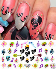 Sheet Music Notes Nail Art Waterslide Decals Set #3 - Salon Quality!