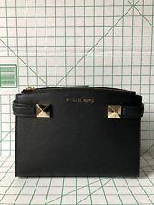 NWT Michael Kors Karla Small East West Satchel Handbag Black Purse