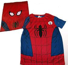 para niños Spiderman Camiseta & A JUEGO Escuela Pe Elástico Bolsa 6-7 años