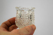 Antique A.H Heisey & Co. No. 1205 Fancy Loop EAPG Clear Glass Toothpick Holder