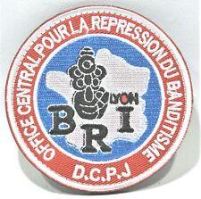 DC.PJ Répression banditisme B.R.I écusson à coudre brodé 8 cm pour collection