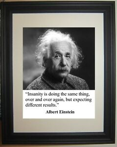 Albert Einstein Famous Science Quote Framed & Matted Photo Picture Photograph