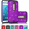 Bling Crystal Rubber Hard Case Cover Skin For Motorola Moto X Style Pure Edition
