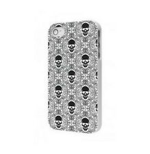 Cover Case IPHONE Protection 4 4S Skull Back Case - 450w White