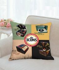 "Spin Alley ""The Icons"" 18"" x 18"" Throw Pillow"