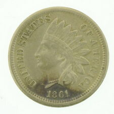 1861 US Indian Head Copper Nickel Five Cent Coin Currency