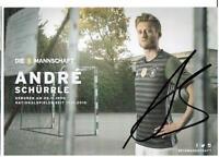 Andre Schürrle   AK  DfB Trikot mit original Unterschrift
