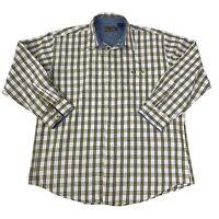 Roper Mens Size XXL 2XL White Blue Yellow Long Sleeve Western Cowboy Shirt