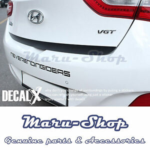 DecalX Carbon Tailgate Handle Garnish Decal Sticker for 13~17 Hyundai Elantra GT