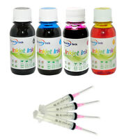4x100ml Refill ink for Epson EcoTank L100 L110 L120 L200 L210 L300 L350 L355