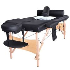 BestMassage Massage Table Portable Facial Bed W/Sheet Cradle Cover 2 Bolster