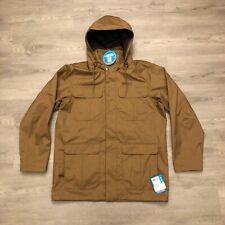 Columbia Mens Brown Omni Tech Waterproof Breathable Interchange Jacket Sz L NWT