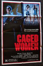 CAGED WOMEN 1984 ORIGINAL 1 SHEET MOVIE POSTER LAURA GEMSER GABRIELE TINTI