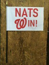"""Washington Nationals  NATS  Win !   Mini Desk Flag    6"""" x 4""""  World Series"""