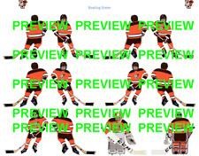 Coleco Table Hockey College Bowling Green Orange Team Custom Decal Sheet