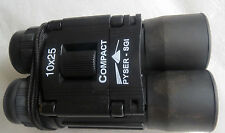 BINOCULARS 10X25  HIGH QUALITY  PYSER-SGI DIOPTER SETTING & CENTRAL FOCUSING