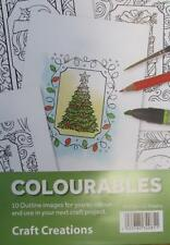 Craft Creations Colourables Card Toppers Christmas Set 1 Pack Of 12 Card Making