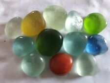 12 Multi Coloured Vintage Sweet Pieces English Seaglass North East Coast Seaham