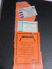 METALLICA Korn Kid Rock LA Concert ticket 2000