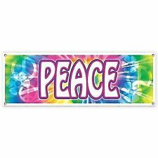 Beistle 57664 Peace Sign Banner Pack of 12