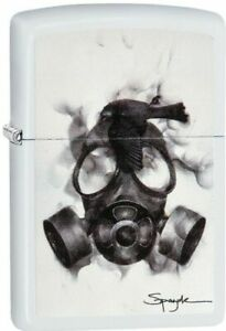 Zippo 29646 Steven Spazuk Gas Mask  White Matte Finish New Lighter,New