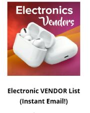 Vendors list Plus free guide on how contacting Vendors***LIMITED TIME ONLY***