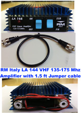 RM Italy LA 144 70 Watts 2m amplifier (135-175 mhz) with 1.5 Ft Jumper Cable