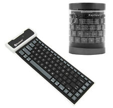 Roll Up waterproof Silicon Bluetooth Keyboard For Samsung Android Tablet
