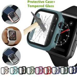 For Apple Watch Screen Protector Case Series 3/4/5/6/SE Tempered Glass & Cover