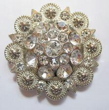 Concho Concha 38 mm Kristall Steine Rhinestone Western zum Schrauben 310