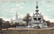 BR70682 university and fountain west end park  glasgow  scotland