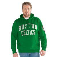 Boston Celtics Jump Shot Hoodie 6XL Green Double Logos Embroidered Plus Size NBA