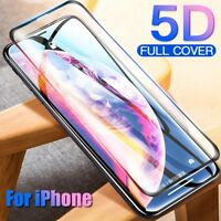 5D Curved Tempered Glass Full Cover Screen Protector For iPhone XS MAX Xr 7 8
