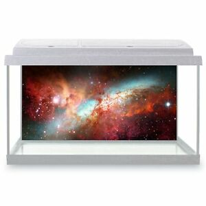 Fish Tank Background 90x45cm - Red Nebula Space Galaxy NASA  #15523
