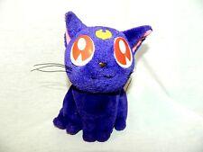 "1996 SAILOR MOON Cat LUNA Plush IRWIN 8"" Vintage  stuffed anime Toy Purple"