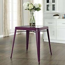 Crosley Furniture Amelia Metal Cafe Dining Table in Purple