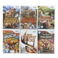 Cabela's Big Game Hunter Hunting Games Nintendo Wii Video Game Bundle Lot of 6