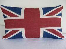 Rectangular Oblong UNION JACK FLAG Linen Look Cushion Cover ~ 30x50cm