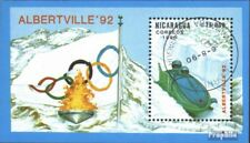 Nicaragua block192 (complete issue) used 1990 Winter Olympics ´