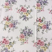 Cotton Blend Fabric Shabby Chic Rose Floral Pink Mauve Sage Craft Sewing