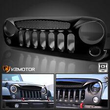 2007-2016 Jeep Wrangler JK Matte Black Mesh Ghost Style Front Bumper Hood Grille