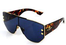 Genuine Christian Dior Addict 1 Gold Black Havana Shield Sunglasses 000 A9