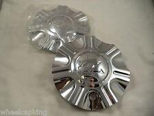 Zinik Wheels Chrome Custom Wheel Center Caps (SET OF 2 ) W/ BOLTS