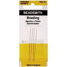 English Beading Needles Size 12  (4 Needles)