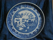 Antique Georgian Blue and White Transfer Spode Willow Pattern Plate/Stand #91