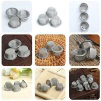 10Pc 12mm s Stainless Steel Dome Screen crystal pipe mesh smoking tobacco mesh·