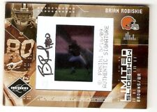 BRIAN ROBISKIE AUTOGRAPH RC SN /50 2009 LIMITED SLIDESHOW 11 CLEVELAND BROWNS