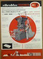 Materiali edili - pubblicità - Rosacometta - Vibroblock 7 - Milano - anni '50