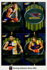 2013 Select AFL Champions Silver Foil Parallel Card Team Set West Coast (12)